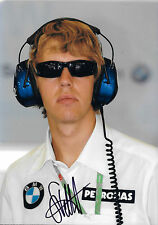 Sebastian Vettel SIGNED BMW-Sauber Portrait Test Driver 2006