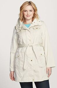 Ellen-Tracy-Plus-Size-Techno-Trench-Women-039-s-Coat-NWT-MSRP-220