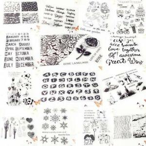 14 Styles Silicone Clear Transparent Stamps Scrapbooking Album Photo Cards Craft