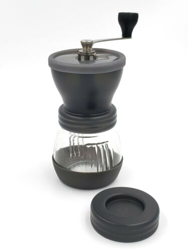 Manual Coffee Grinder Mill Hand Beans Nuts Adjustable Conical Ceramic Burr Spice