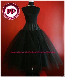 BLACK-Multilayer-Crinoline-Petticoat-Underskirt-FREE-P-amp-P