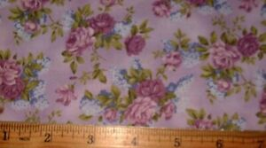 Quilting Sewing Cotton Fabric Hoffman Aunt Rosie Tiny Floral Buds Wisteria 617