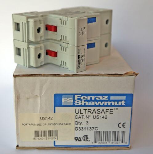 Portafusibile Ferraz Shawmut 2P 750 VDC 50A 14 X 51 US142