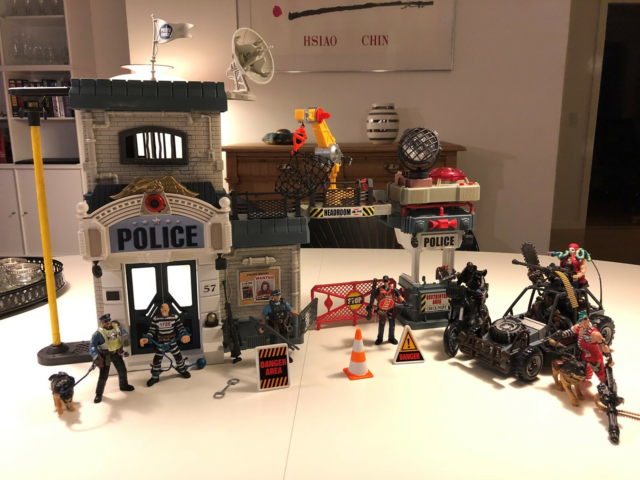 Politistation plus actionfigurer og tilbehør, Police Force…