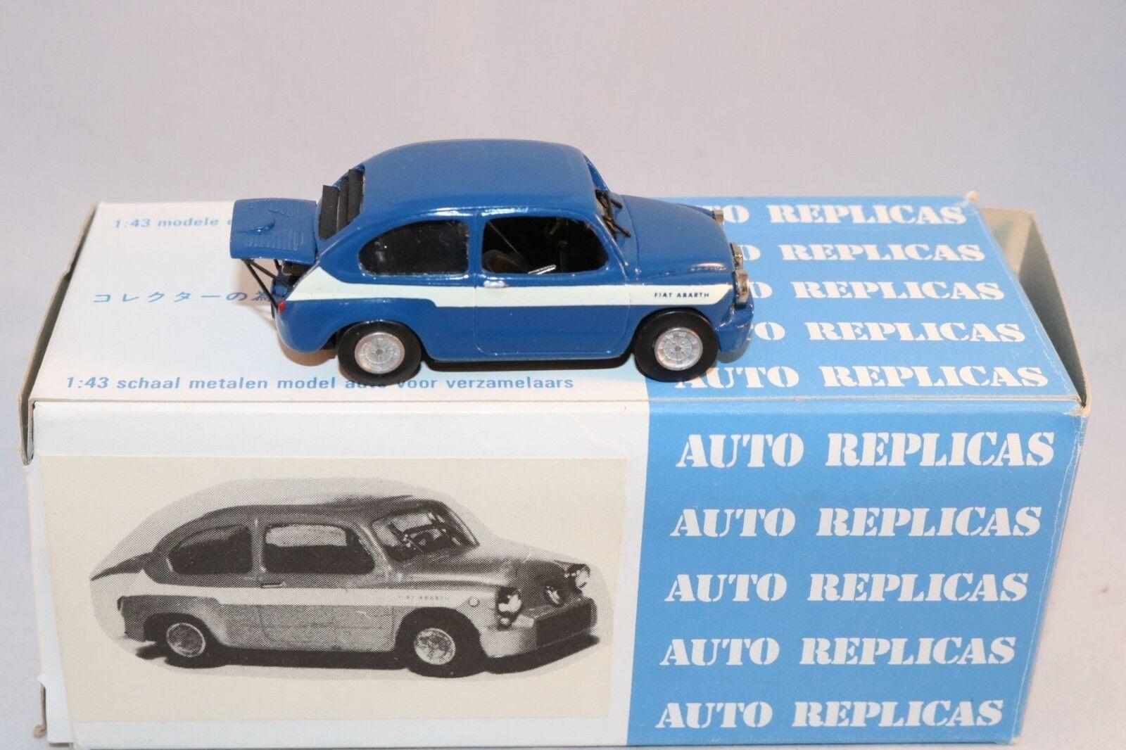 bil Repicas a.r. 15 Fiat Abkonsth blå Perfekt Mint i låda KIT byggnad