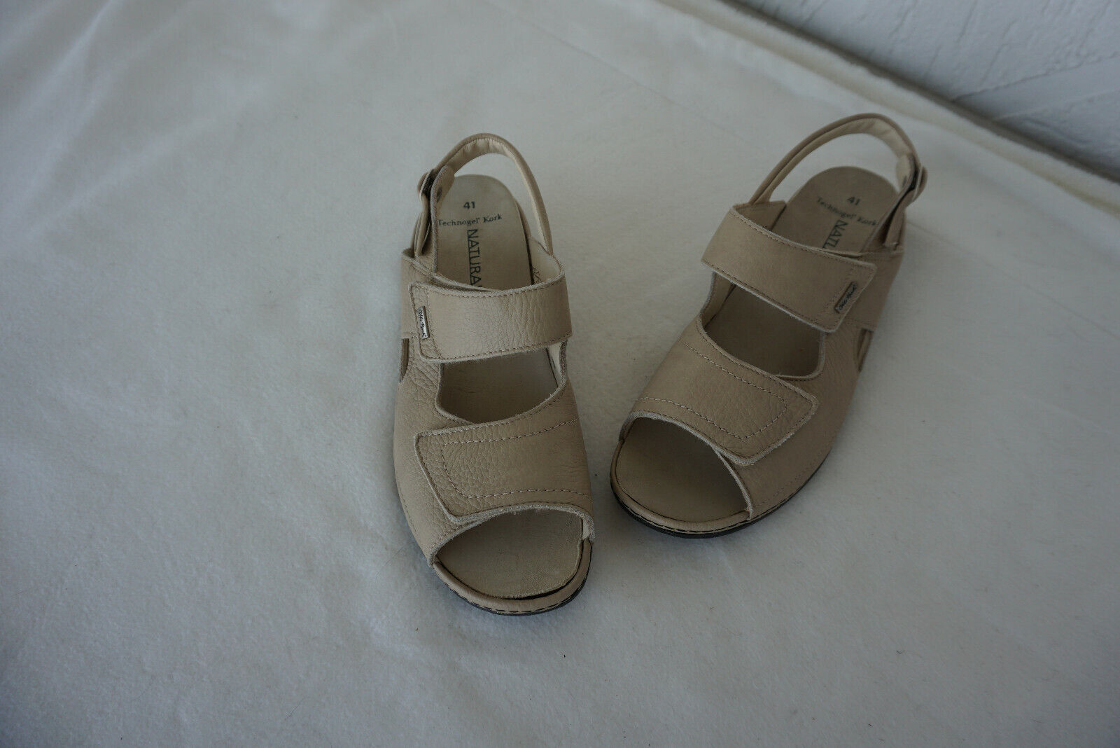 Orthopedic Otto Bock Womens Summer Sandals shoes Velcro Size 41 Beige Leather NEW