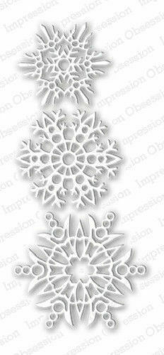 024X suitable for most die cutters SNOWFLAKES DIE-Impression Obsession