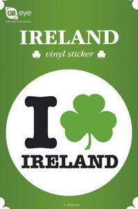 Ireland Größe Ø9 Cm I Love Sticker Aufkleber