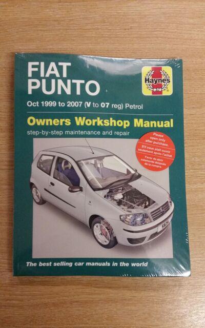 fiat punto 1 2 cvt 1999 2007 haynes manual 5634 ebay rh ebay co uk Fiat Punto 2002 2016 Fiat Punto