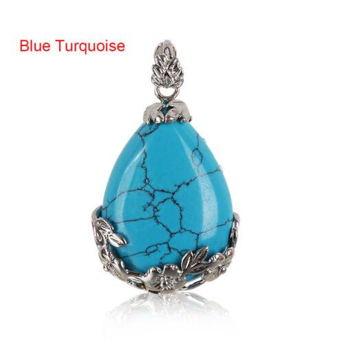 stone colliers de pendentifs opal turquoise quartz naturel améthyste agate