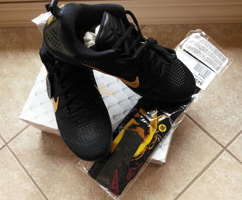 NIKE KOBE 11 Elite Low FTB  Fade To Black  SZ 11.5 Black gold with Kobe Socks