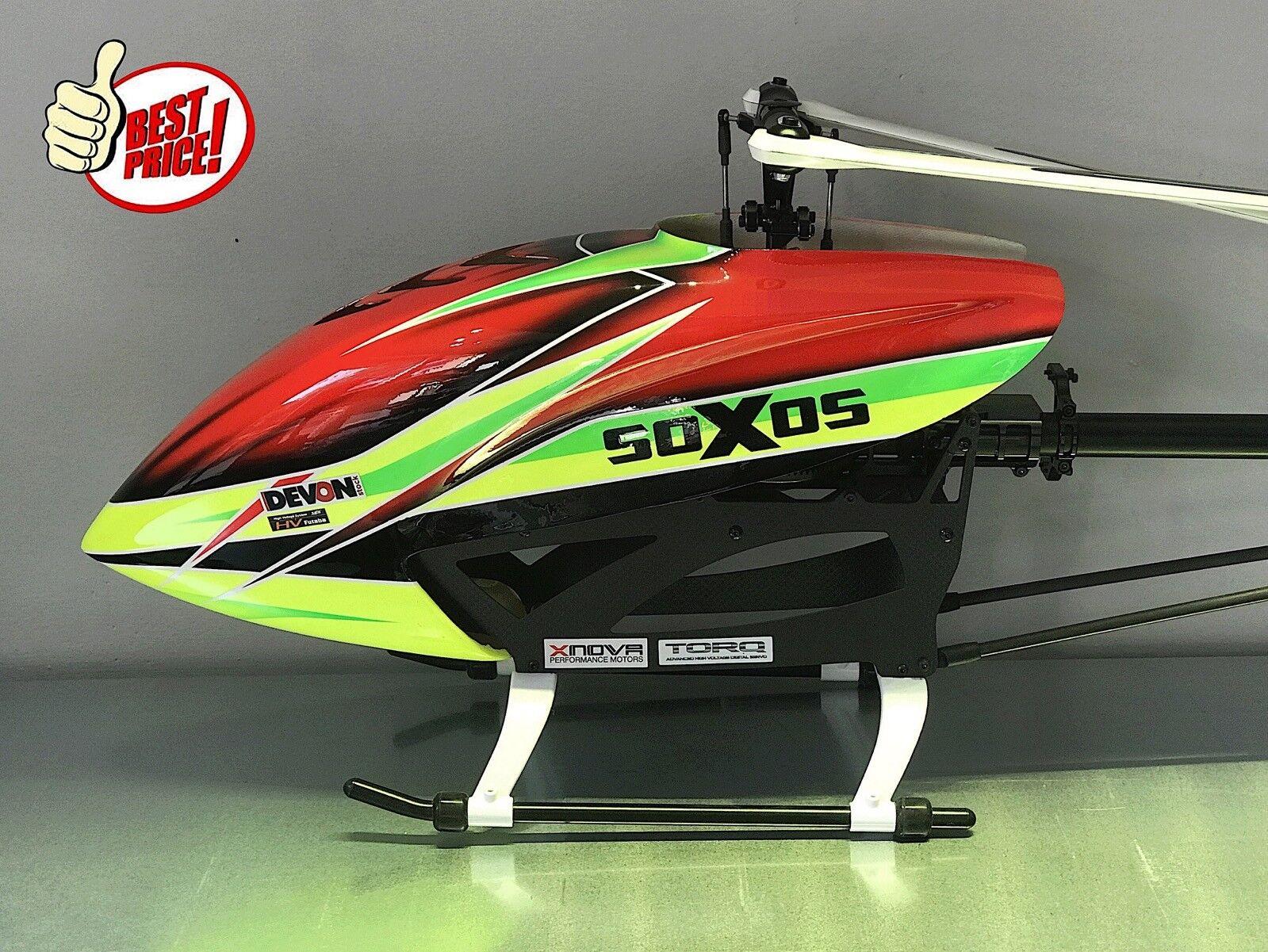 Elicottero elettrico rc radiocomandato Soxos 550 kit telecomandato flybarless