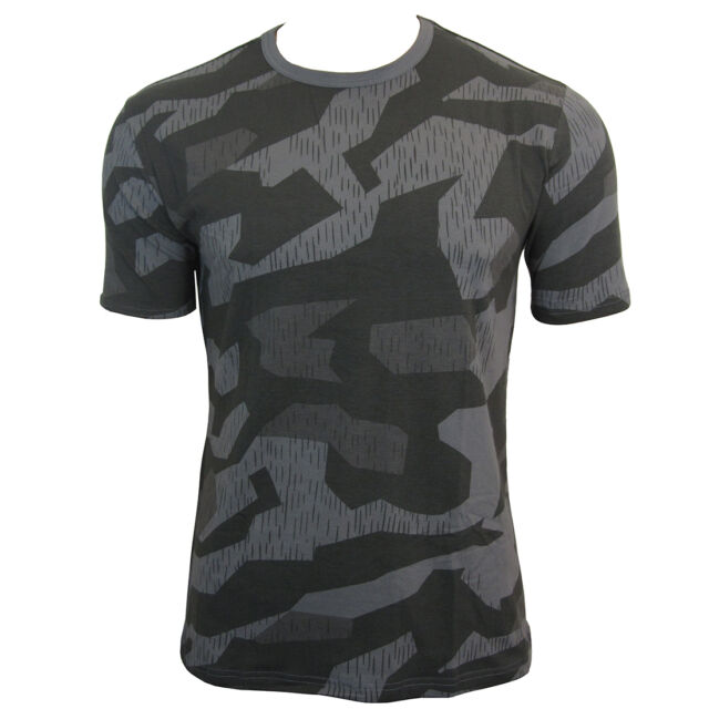 Splinter Night Pattern Camo ARMY T-SHIRT - All Sizes Camouflage Military Top