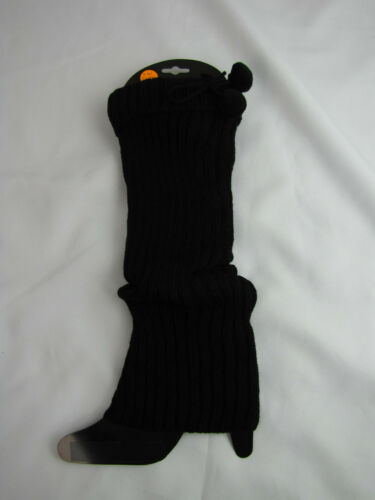 Womens High Fashion Leg Warmers Black One Size Fits NWT 17in LW21BK