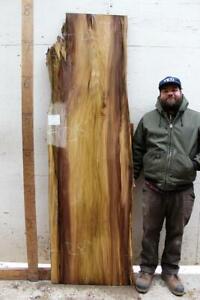Details about Rainbow Poplar Bar Countertop Live Edge Desk Natural Wood  Slab Table DIY 6391a15