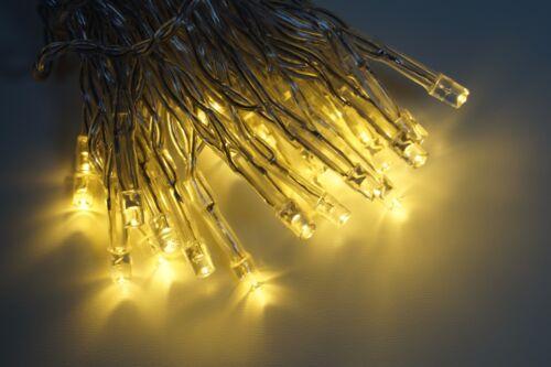 Lichterkette 30 LED Warmweiß Batterie Timerfunktion für Außen geeignet KV