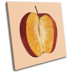 Apple-Orange-Concept-Fruit-Food-Kitchen-SINGLE-CANVAS-WALL-ART-Picture-Print
