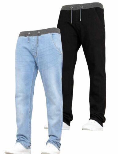 Enfants Garçons Jeans Extensible Multipack 2 Paquet Tirer Élastique Taille Pant