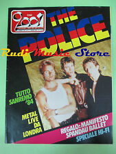 rivista CIAO 2001 5/1984 Police John Cougar kinks Spandau Ballet Fossati No cd