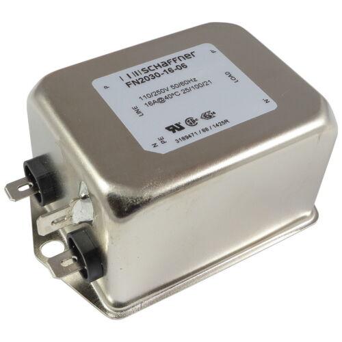 Schaffner fn2030-16-06 red filtro 250vac 16a single-fase filtro 1-alturas 856789