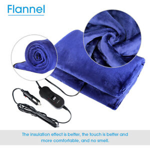 Details about 12V Electric Car SUV RVs Boat Travel Heated Blanket Soft  Flannel Warm Winter