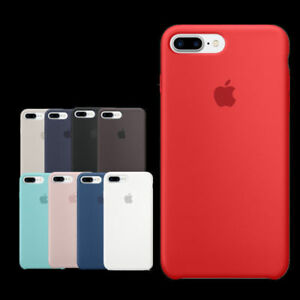 Genuine-ufficiale-Hard-Silicone-Custodia-Cover-per-Apple-iPhone-8-7-6s-6-Plus