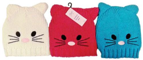 Bambine Kitty Cat Natale Cappello Beanie Sci Termica Inverno Cappello Beanie