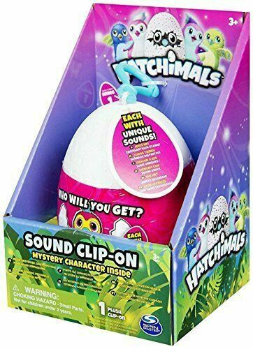 Spin Master Hatchimals Sound Clip-On Surprise Egg Mystery Character Plush Toy