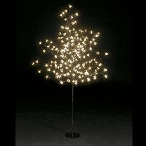 1-5m-5ft-Snowtime-200-LED-bulbs-cherry-blossom-pre-lit-xmas-trees-wedding-party