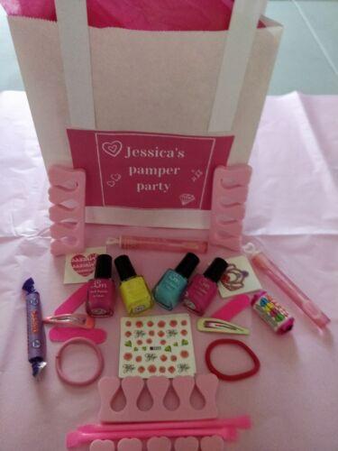 Chicas mimar Fiesta De Pijamas Fiesta De Cumpleaños Bolsa precargada Rosa Organza personalizado