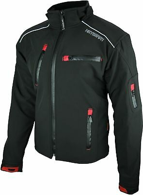 HEYBERRY Soft Shell Motorradjacke Textil Antique-Jeans Gr XXL