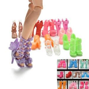 10-pares-de-zapatos-de-moda-para-munecas-Estilos-fijos-Color-aleatorio