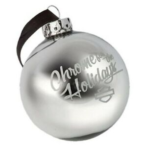 HD-Harley-Davidson-Christbaumschmuck-Kugel-Ball-Ornament-Chrome-HDX99125