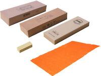 Japanese Ice Bear / King Waterstone Set 800 1200 6000 Grit Nagura + Non-Slip Mat