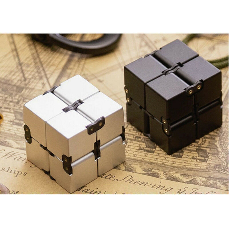 infinity cube mini magic abs fidget toy finger edc anxiety stress relief adult