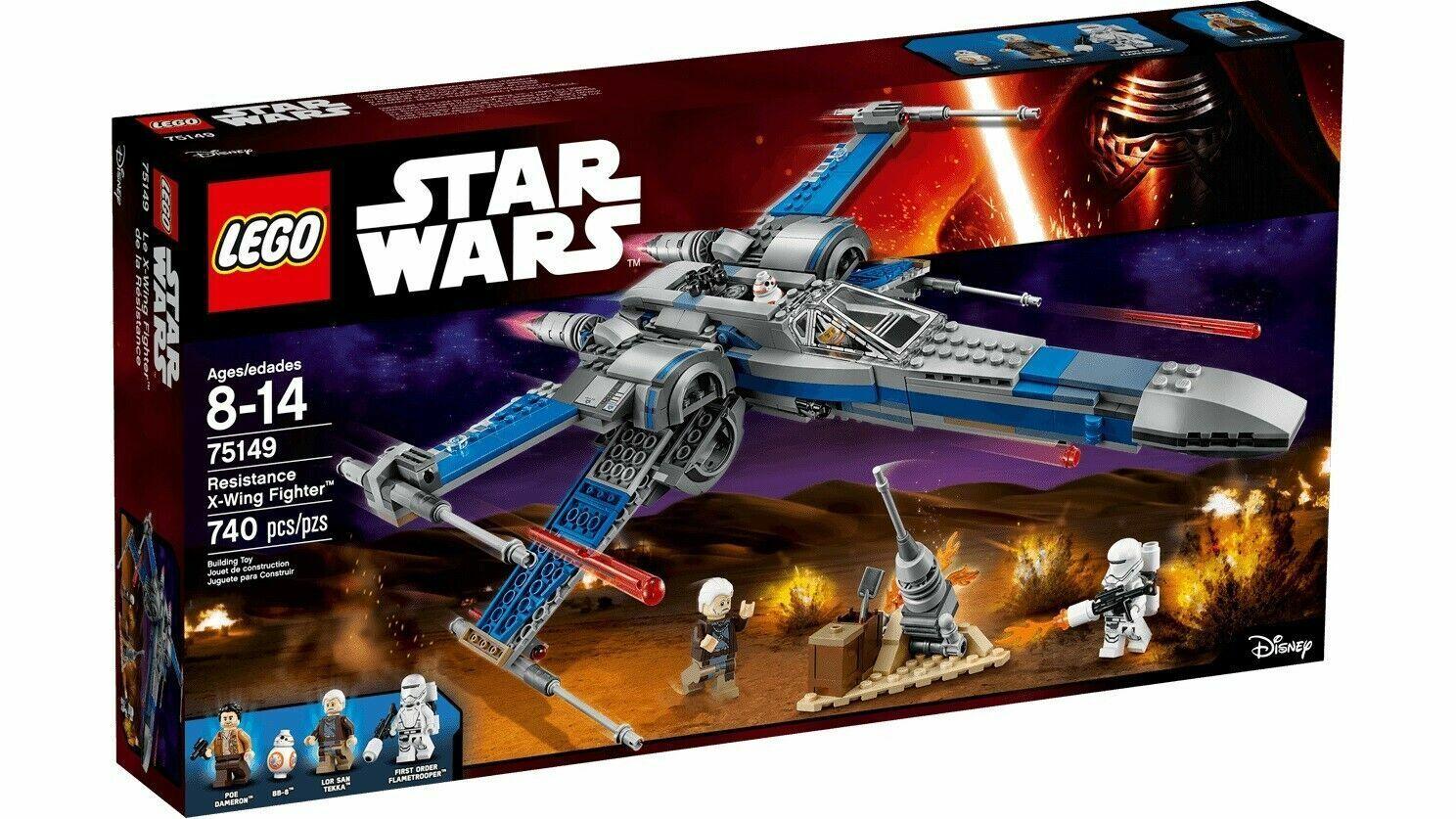 Envío rápido y el mejor servicio Resistencia Lego 75149 Estrella Wars X-Wing X-Wing X-Wing Fighter Azul Sellado retirado  venta al por mayor barato