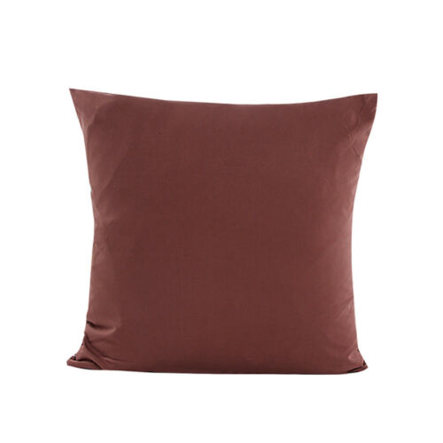 Fashion Home Plain Solid Throw Cushion Cover Rome Decor Sofa Waist Pillow Case