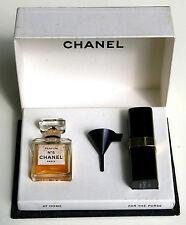Chanel N° 5 Parfum Miniflacon 7 ml Umfüll-Set mit Trichter, orig. um 1950, RAR!
