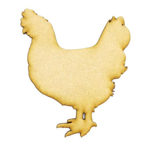 Chicken Farm Animals 3mm MDF Laser Cut Craft Blank Scrapbook Topper