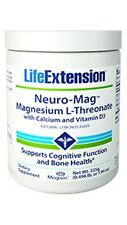 Neuro-Mag Magnesium L-Threonate with Calcium Vitamin D3 -Life Extension -225 gms