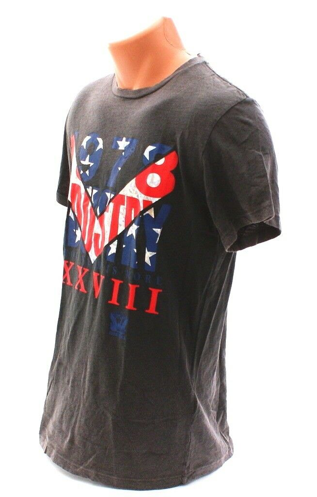 Diesel All You Need is More Metallic Graphics Distressed Distressed Graphics Tee T Shirt Uomo's NWT 5faa22