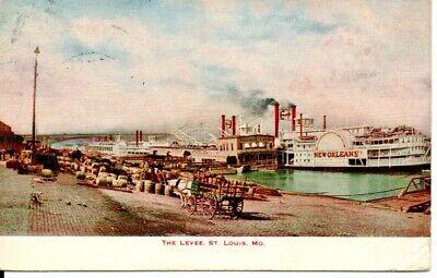 Levee Scene St. Louis, MO Postcard