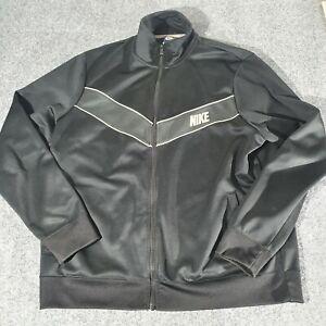 NIKE Jacket Mens X LARGE Cotton Black activewear Long Sleeve Size XL Winter