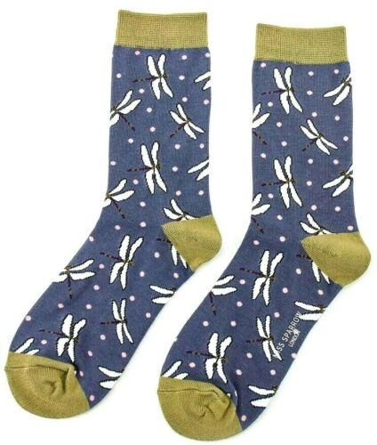 Dragonfly Design Novelty Miss Sparrow 4-7 Ladies Dragonflies Bamboo Socks