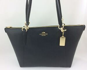 Image Is Loading New Coach F57526 Ava Crossgrain Leather Tote Handbag