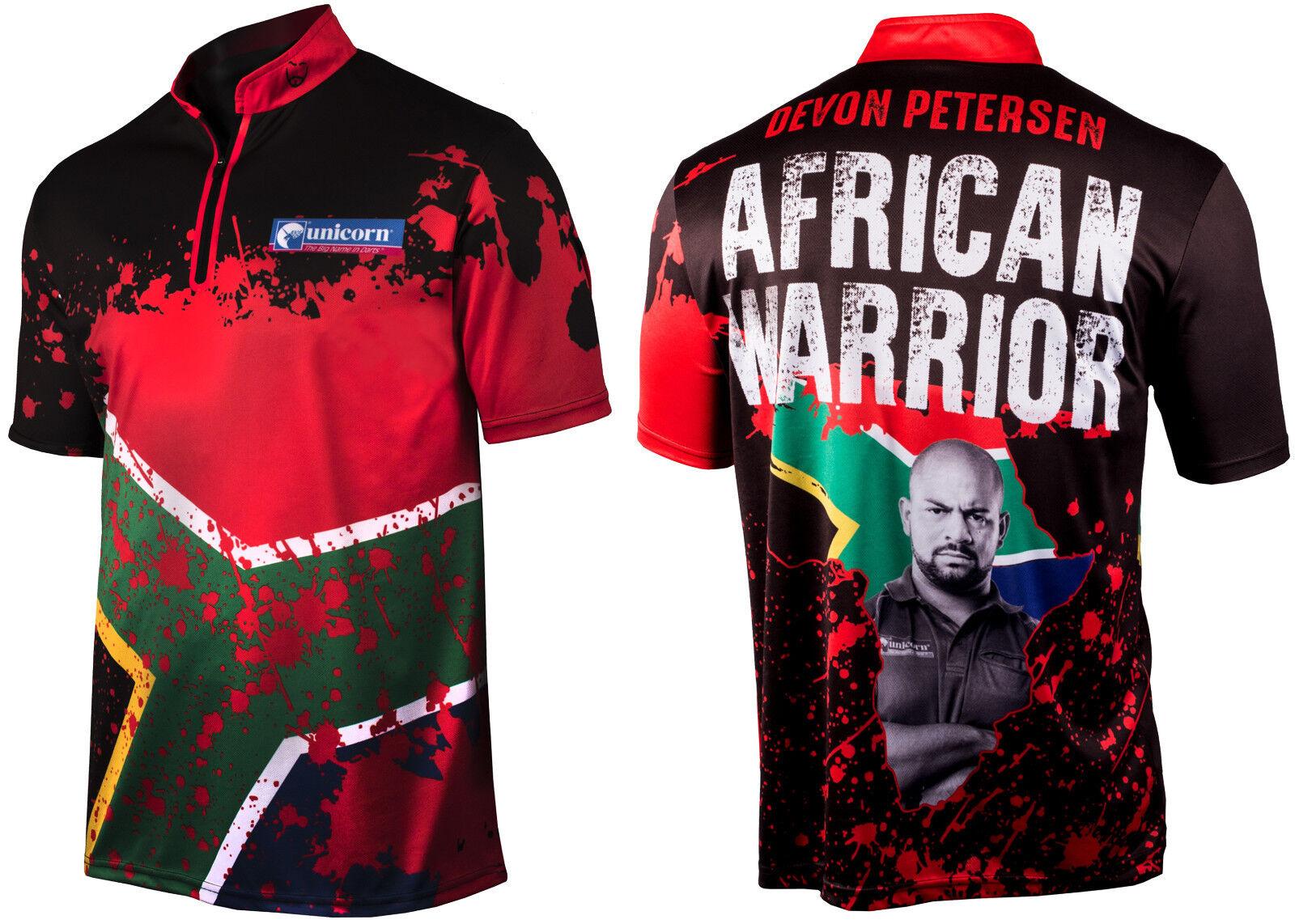 Unicorn Contender Devon Petersen Authentic Player Replica Darts Shirt XXXXL