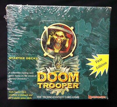 Mutant Chronicles 1994 NEW Doomtrooper Unlimited Box of Starter Decks 10 Pack