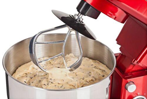 Küchenmaschine, rot 1200W Leistung Rühr Knetmaschine Standmixer Teigkneter 4,2L  4c4W6