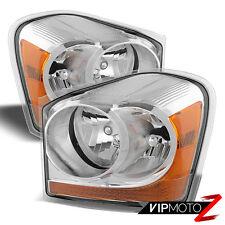 2004-2005 Dodge Durango SLT Limited Chrome Front Headlights Headlamps Assembly