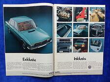 NSU Volkswagen K 70 - Werbeanzeige Reklame Advertisement 1972 __ (664